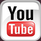 YouTube - t,ext square, rounded, with colour, 5cm high