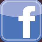 Facebook - f square, rounded - with colour - 5cm high
