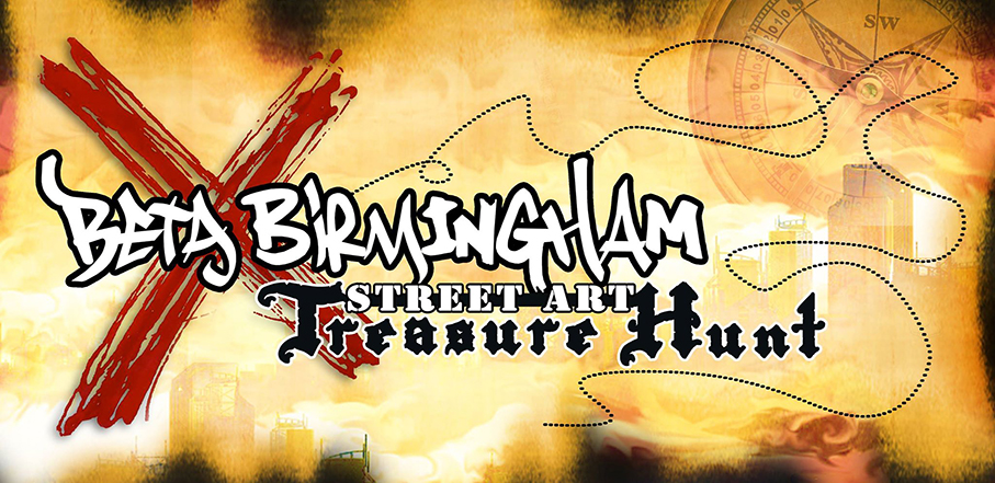 Beta Birmingham Street Art Treasure Hunt @ City Centre 23.04.16
