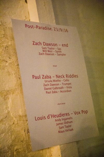 Post Paradise – feat. Zach Dawson, Paul Zaba, Louis D'Heudieres @ Centrala (Minerva Works) 23.09.16 / Pics by Michelle Martin © Birmingham Review