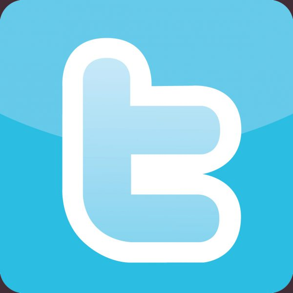 Twitter - t, square, rounded - with colour