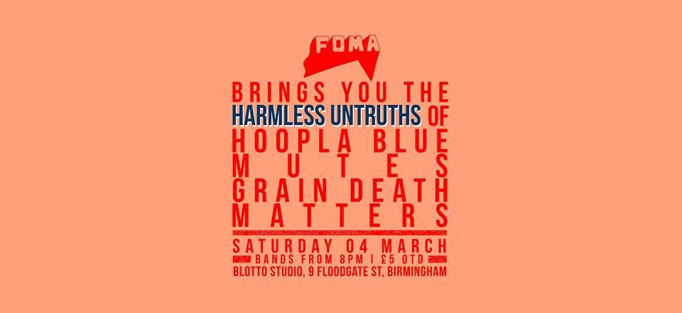 THE GALLERY: Harmless Untruths of… Hoopla Blue, Mutes, Grain Death, Matters @ Blotto Studio 04.03.17