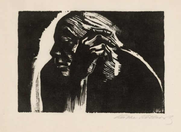 Käthe Kollwitz – Self Portrait (1924) woodcut © The Trustees of the British Museum