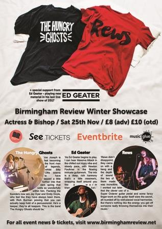 Birmingham Review Winter Showcase @ Actress & Bishop 25.11.17