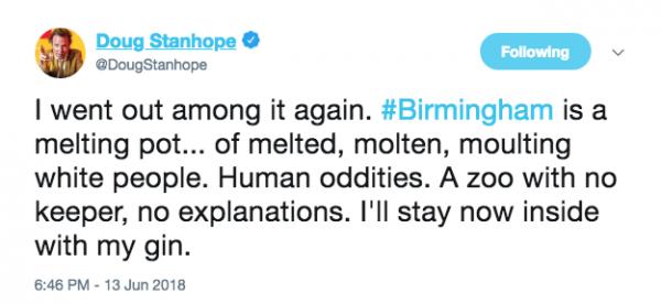 Doug Stanhope - Twitter feed 13.06.18