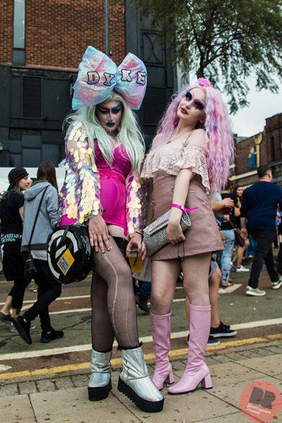 Amber Cadavarous and Rosary Bee at Birmingham Pride 26-7.05.18 / Eleanor Sutcliffe